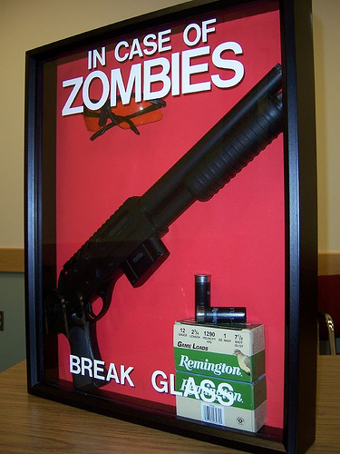 prepared hurricane includes body armor mossberg 12 guage prepared for zombies
