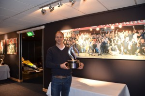 Me with Formula One trophy